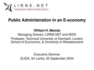 Public Administration in an E-economy