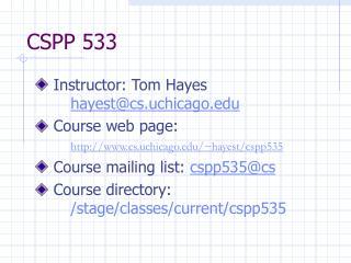 CSPP 533