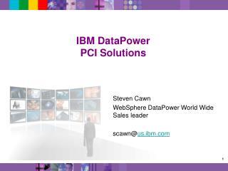 IBM DataPower PCI Solutions