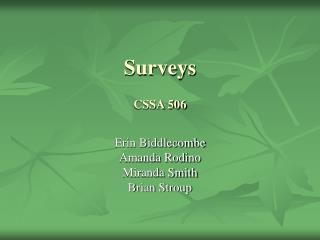 Surveys CSSA 506