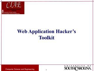 Web Application Hacker�s Toolkit