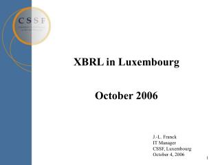 XBRL in Luxembourg