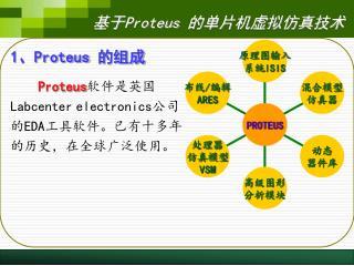 1 、 Proteus  的组成 Proteus 软件是英国 Labcenter electronics 公司的 EDA 工具软件。已有十多年的历史,在全球广泛使用。