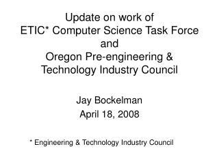 Jay Bockelman April 18, 2008