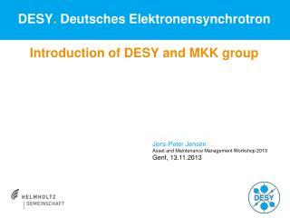 DESY .  Deutsches Elektronensynchrotron