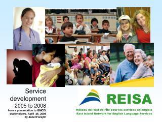 REISA Réseau de l'Est de l'Île pour les services en anglais