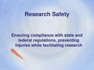 Research Safety