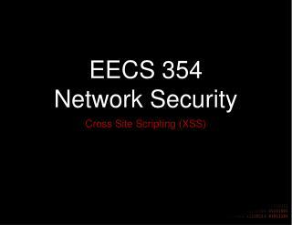 EECS 354 Network Security