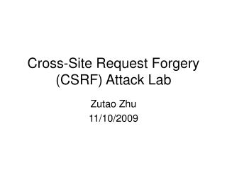 Cross-Site Request Forgery (CSRF) Attack Lab