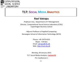 T17:  Social  Media  Analytics