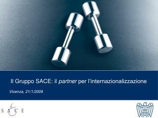 Il Gruppo SACE: il  partner  per l'internazionalizzazione Vicenza, 21/1/2009