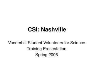 CSI: Nashville