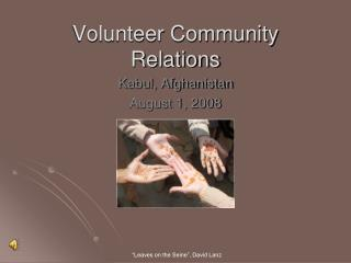 Volunteer Community Relations