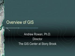Overview of GIS