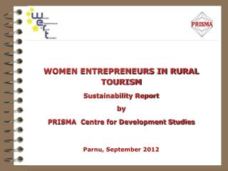 WOMEN ENTREPRENEURS IN RURAL TOURISM Sustainability Report by
