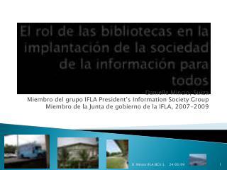Danielle Mincio, Suiza Miembro del grupo IFLA President's Information Society Group