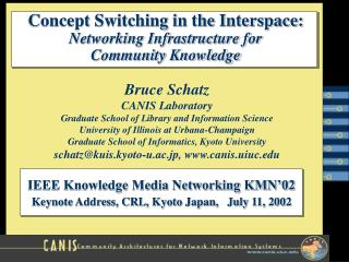 Concept Switching in the Interspace: Networking Infrastructure for  Community Knowledge