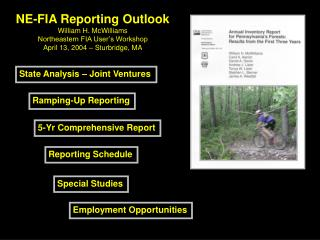 NE-FIA Reporting Outlook William H. McWilliams Northeastern FIA User's Workshop
