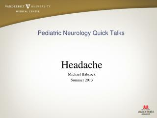 Pediatric Neurology Quick Talks