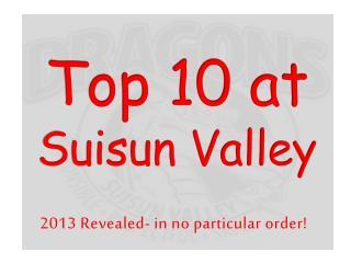 Top 10 at Suisun Valley
