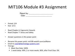 MIT106 Module #3 Assignment