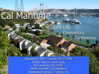 Cal Maritime 2009 CSU        Counselors     Conference