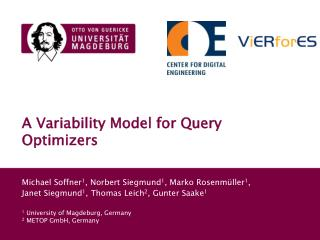 A Variability Model for Query Optimizers