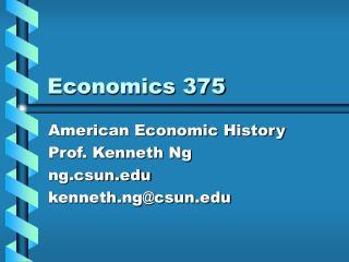 Economics 375