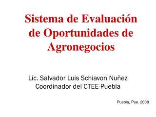 Sistema de Evaluación de Oportunidades de Agronegocios