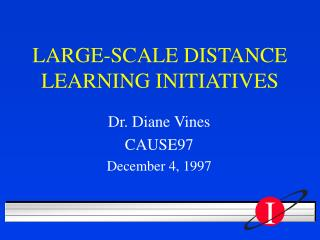 LARGE-SCALE DISTANCE LEARNING INITIATIVES