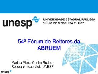 54º Fórum de Reitores da ABRUEM