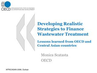 Developing Realistic Strategies to Finance Wastewater Treatment