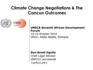 UNECA Seventh African Development Forum 10-15 October 2010 UNCC, Addis Ababa, Ethiopia