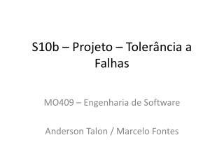 S10b � Projeto � Toler�ncia a Falhas