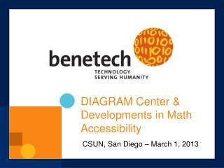 DIAGRAM Center & Developments in Math Accessibility