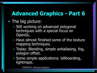 Advanced Graphics - Part 6