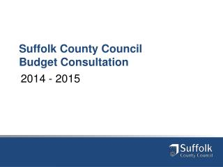 Suffolk County Council Budget Consultation