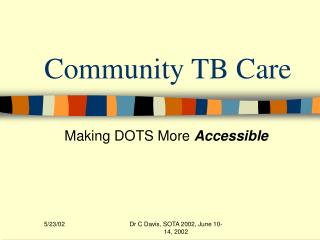Community TB Care