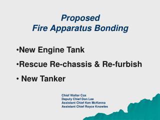 Proposed Fire Apparatus Bonding