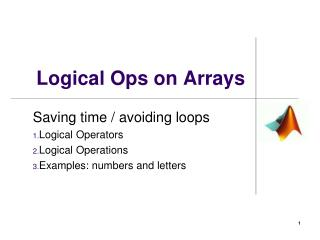 Logical Ops on Arrays