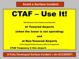 CTAF – Use It! Self Announce Your Position and Intentions At Towered Airports