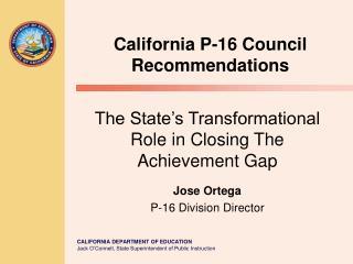 California P-16 Council Recommendations