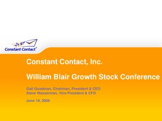 Constant Contact, Inc. William Blair Growth Stock Conference