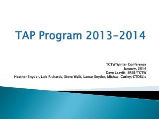 TAP Program 2013-2014