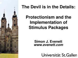 The Devil is in the Details:  Protectionism and the Implementation of Stimulus Packages