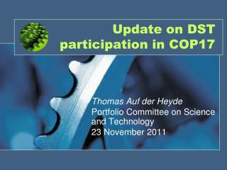 Update on DST participation in COP17