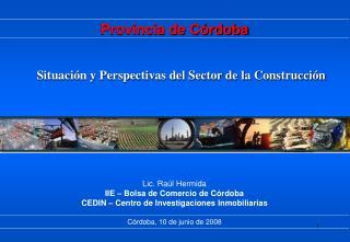 Situación y Perspectivas del Sector de la Construcción