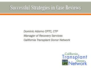 Successful Strategies in Case Reviews