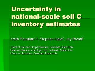 Uncertainty in national-scale soil C inventory estimates