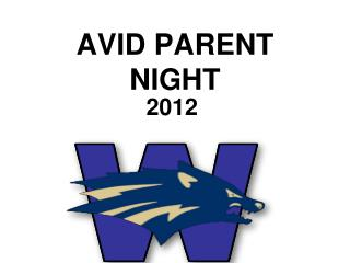 AVID PARENT NIGHT
